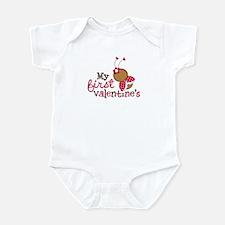1st Valentines Day Ladybug Infant Bodysuit