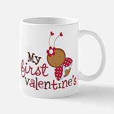 1st Valentines Day Ladybug Mug