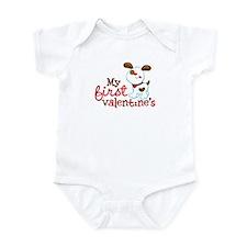1st Valentines Day Puppy Infant Bodysuit