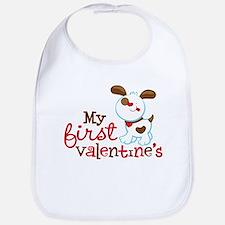 1st Valentines Day Puppy Bib