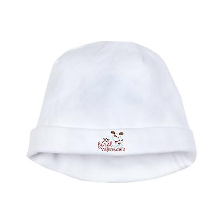 1st Valentines Day Puppy baby hat