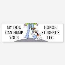 Wire Fox Terrier Honor Student Bumper Bumper Bumper Sticker