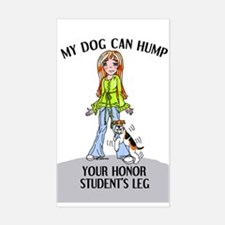 Wire Fox Terrier Honor Student Sticker (Rectangula
