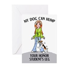 Wire Fox Terrier Honor Student Greeting Cards (Pac
