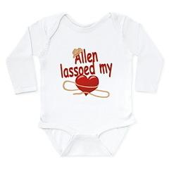 Allen Lassoed My Heart Long Sleeve Infant Bodysuit