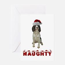 Naughty Springer Spaniel Greeting Card