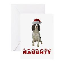 Naughty Springer Spaniel Greeting Cards (Pk of 10)