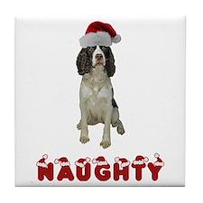 Naughty Springer Spaniel Tile Coaster