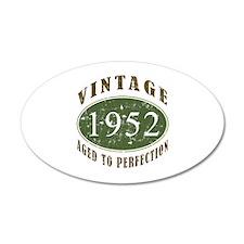 Vintage 1952 Retro 38.5 x 24.5 Oval Wall Peel
