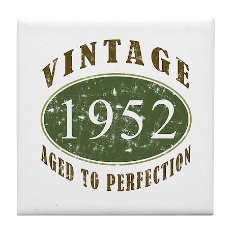 Vintage 1952 Retro Tile Coaster