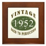 Vintage 1952 Retro Framed Tile