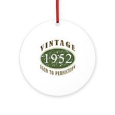 Vintage 1952 Retro Ornament (Round)
