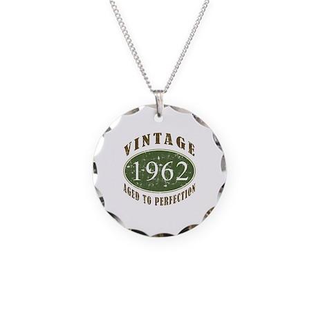 Vintage 1962 Retro Necklace Circle Charm