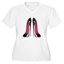Pair Black Stiletto Shoes T-Shirt