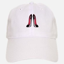 Pair Black Stiletto Shoes Baseball Baseball Cap