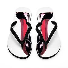 Pair Black Stiletto Shoes Flip Flops