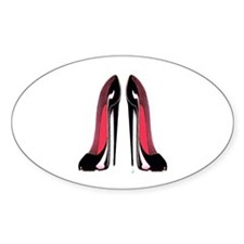 Pair Black Stiletto Shoes Decal