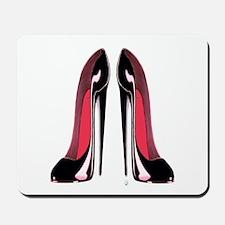 Pair Black Stiletto Shoes Mousepad