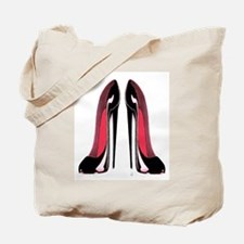 Pair Black Stiletto Shoes Tote Bag