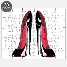 Pair Black Stiletto Shoes Puzzle