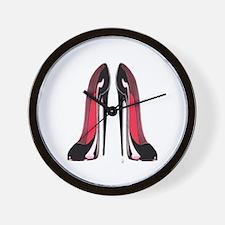 Pair Black Stiletto Shoes Wall Clock