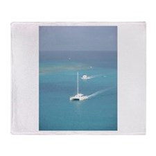 Boats on The Water Throw Blanket