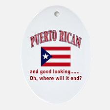 Puerto rican pride Oval Ornament