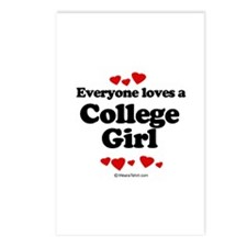 Everyone loves a College Girl -  Postcards (Packag