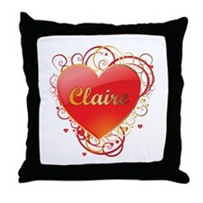 Claire Valentines Throw Pillow