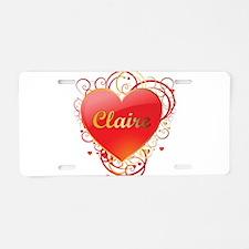 Claire Valentines Aluminum License Plate