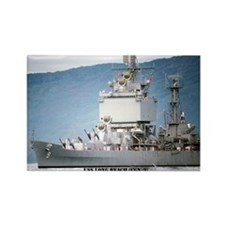 USS LONG BEACH Rectangle Magnet