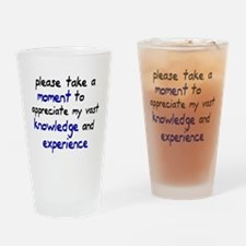 Please take a moment Drinking Glass