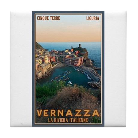 Vernazza Tile Coaster