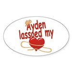 Ayden Lassoed My Heart Sticker (Oval)