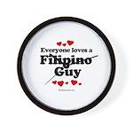 Everyone loves a Filipino Guy -  Wall Clock
