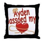 Ayden Lassoed My Heart Throw Pillow