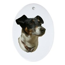 Jack Russell Dog Ornament (Oval)