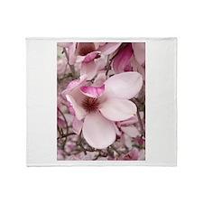 Shy Tulip Throw Blanket