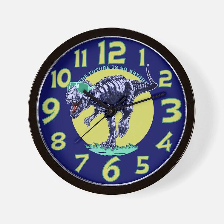 T-Rex Shades Wall Clock