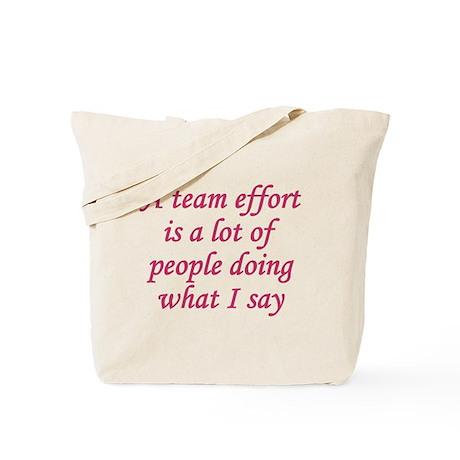Team Effort Definition Tote Bag