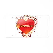 Genevieve Valentines Aluminum License Plate
