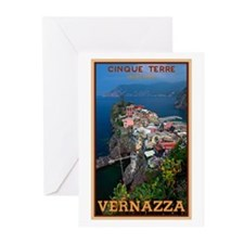 Vernazza from Above Greeting Cards (Pk of 20)
