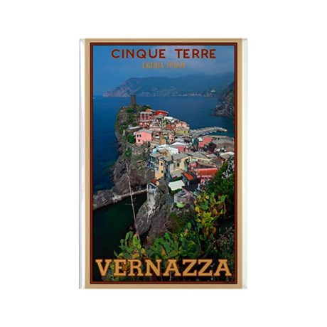 Vernazza from Above Rectangle Magnet (100 pack)