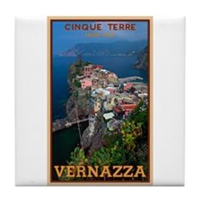 Vernazza from Above Tile Coaster