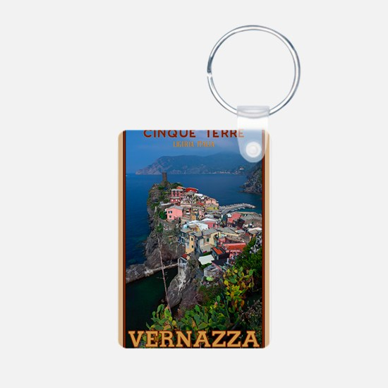 Vernazza from Above Aluminum Photo Keychain