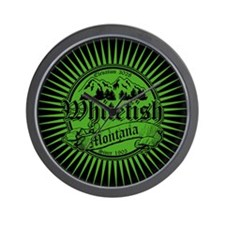 Whitefish Old Green Wall Clock