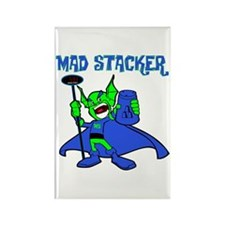Mad Stacker Rectangle Magnet