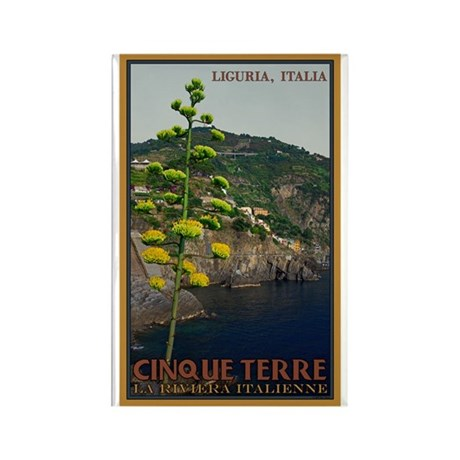 Cinque Terre - Century Plant Rectangle Magnet (100