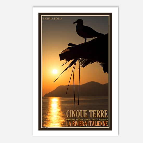 Cinque Terre Sunset Postcards (Package of 8)