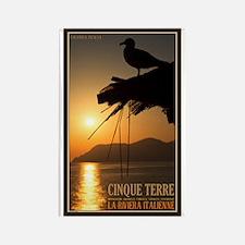 Cinque Terre Sunset Rectangle Magnet